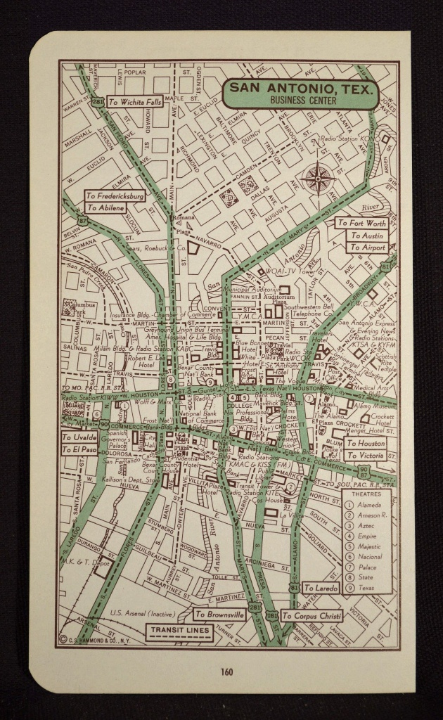 San Antonio Map Of San Antonio Street Map Wall Art Decor City Texas - Texas Map Wall Art
