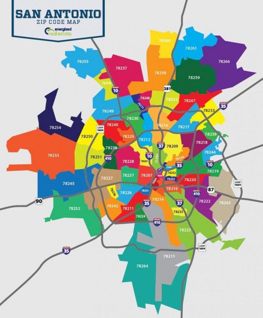 San Antonio Map With Zip Codes - Map Of San Antonio Zip Codes (Texas - San Antonio Zip Code Map Printable