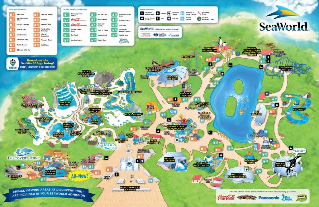 San Antonio Seaworld Map - Seaworld San Antonio Printable Map
