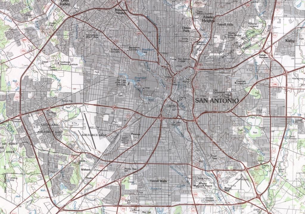 San Antonio Street Map   Dehazelmuis - Detailed Map Of San Antonio Texas