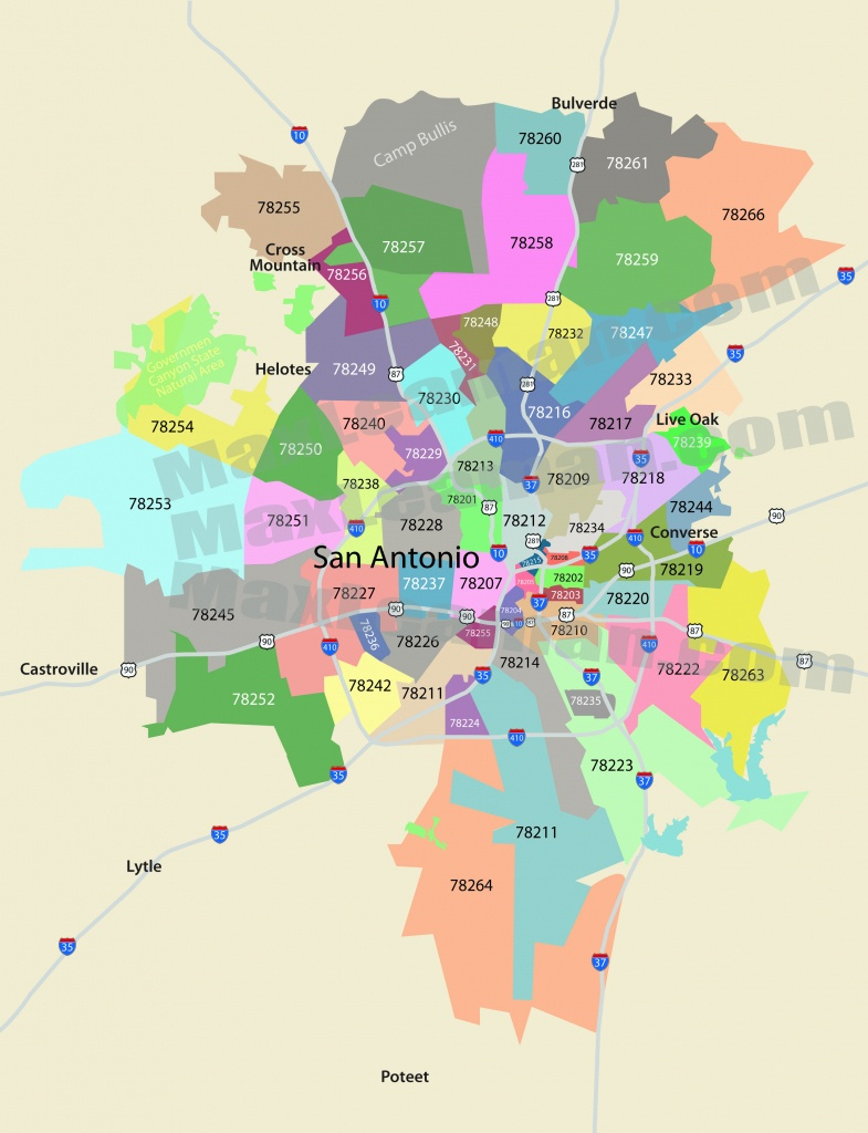San Antonio Zip Code Map | Mortgage Resources - Map Of San Antonio Texas And Surrounding Area