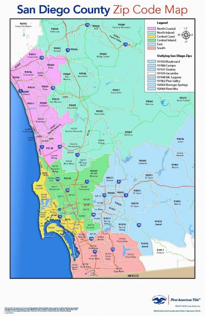 San Diego California Zip Code Map San Diego California Zip Code Map - San Diego County Zip Code Map Printable