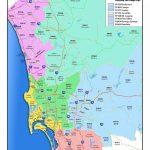 San Diego County Zip Code Map - San Diego County Map With Zip Codes - San Antonio Zip Code Map Printable