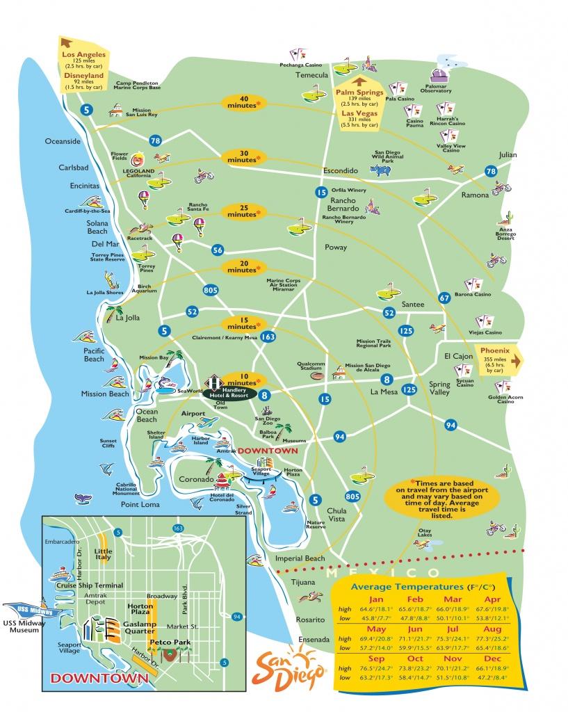 San-Diego-Printable-Maps - San Diego Attractions Map Printable