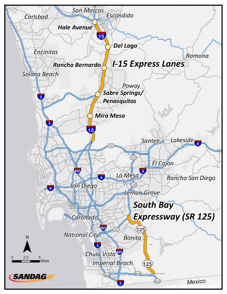San Diego Toll Roads Map - Map Of San Diego Toll Roads (California - California Toll Roads Map