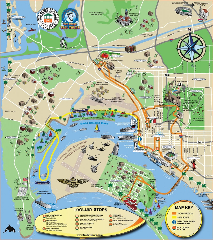 San Diego Tourist Attractions Map - Texas Sightseeing Map