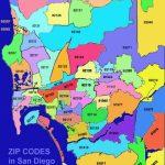 San Diego Zip Code Map - San Diego Map With Zip Codes (California - Usa) - San Antonio Zip Code Map Printable