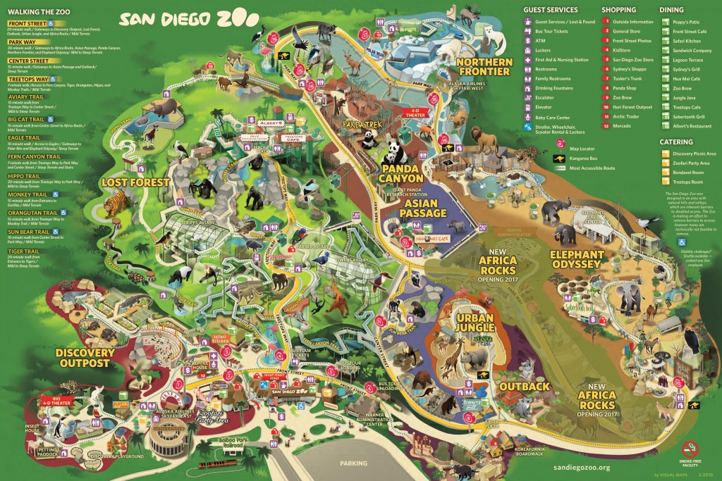 San Diego Zoo Map - San Diego Attractions Map Printable