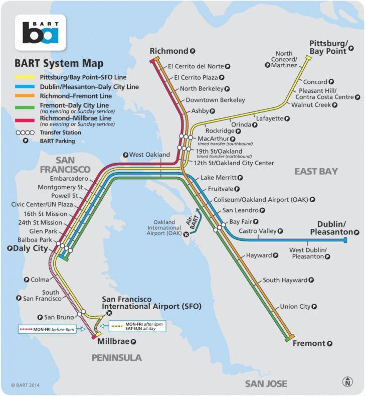 Printable Bart Map