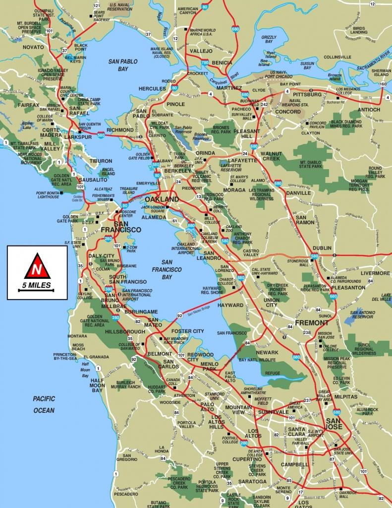 San Francisco Bay Area Map - Printable Map Of San Francisco Bay Area