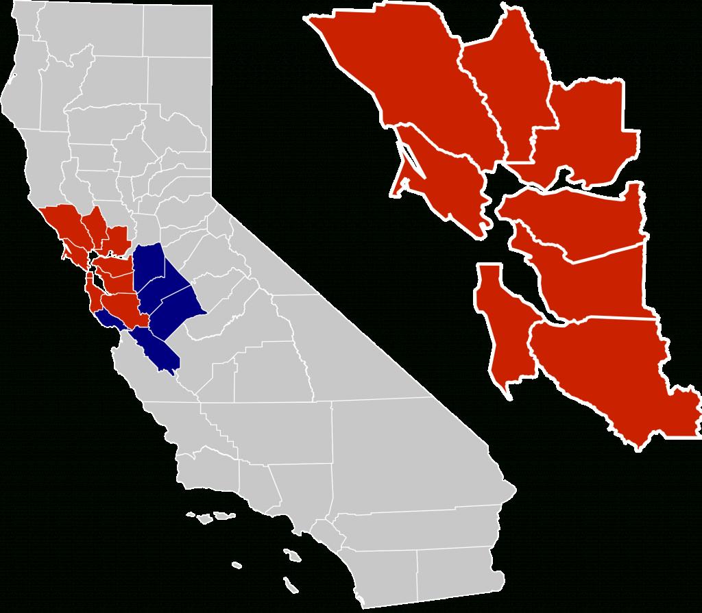 San Francisco Bay Area - Wikipedia - San Francisco Bay Area Map California
