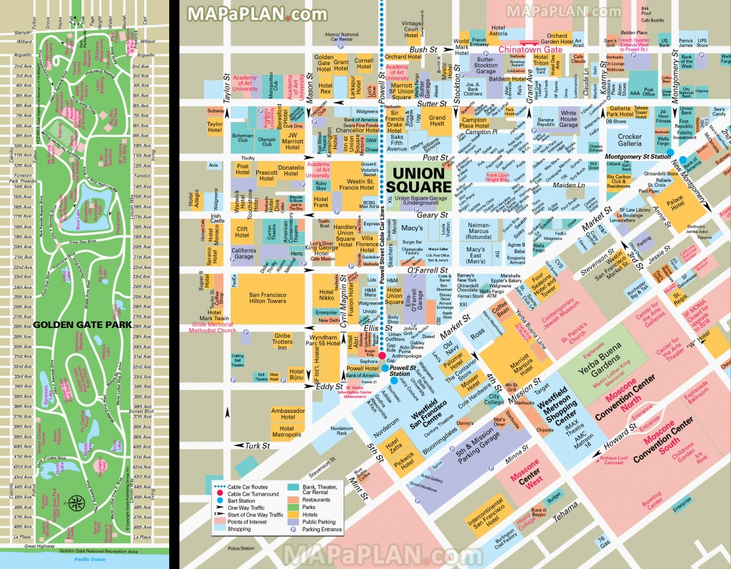 San Francisco Maps - Top Tourist Attractions - Free, Printable City - Printable Map Of San Francisco Downtown