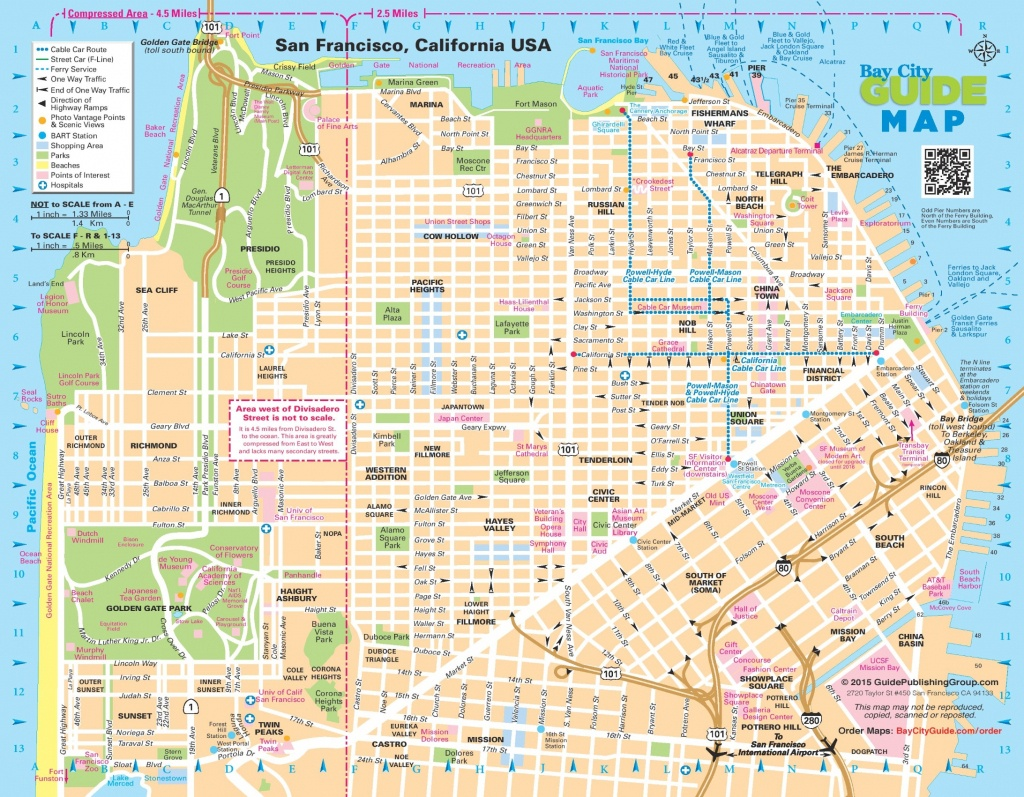 San Francisco Street Map - Printable Map Of San Francisco Streets
