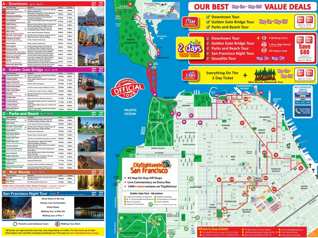 San Francisco Tourist Attractions Map - California Tourist Attractions Map