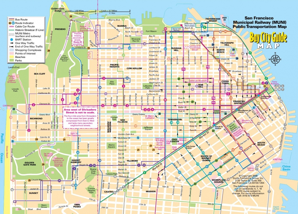 San Francisco Tourist Map Printable And Travel Information - Map Of San Francisco Attractions Printable