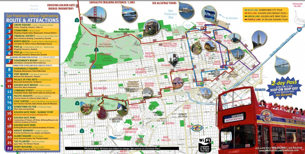 San Francisco Tourist Map Printable And Travel Information - Printable Map Of San Francisco Tourist Attractions