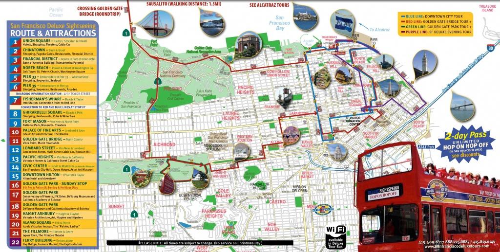 San Francisco Tourist Map Printable | Maps Update #21051488: San - Printable Map Of San Francisco Downtown