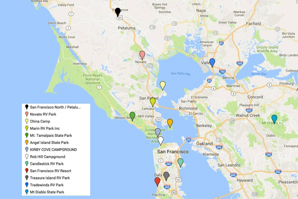 San Francisco's Popular Tourist Areas - Where Is San Francisco California On Map