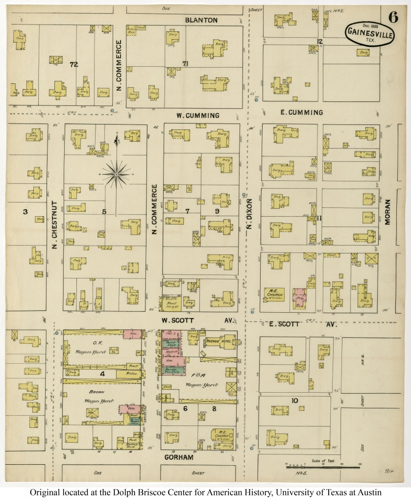 Sanborn Maps Of Texas - Perry-Castañeda Map Collection - Ut Library - Giddings Texas Map
