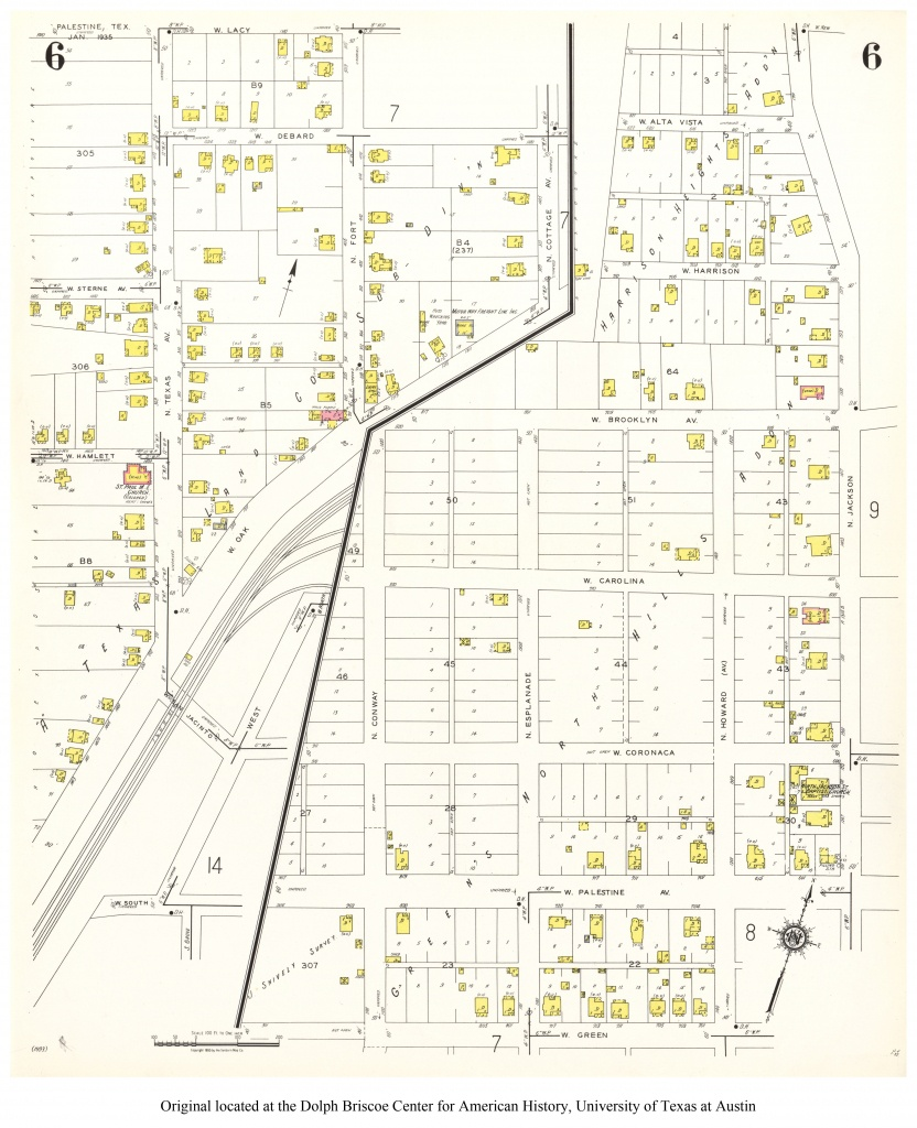 Sanborn Maps Of Texas - Perry-Castañeda Map Collection - Ut Library - Palestine Texas Map