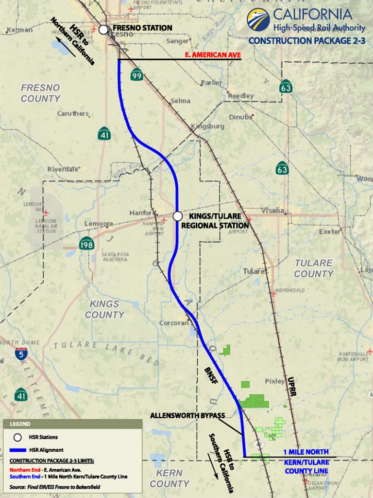 Sandis Lands California High Speed Rail Project | Sandis - California High Speed Rail Project Map