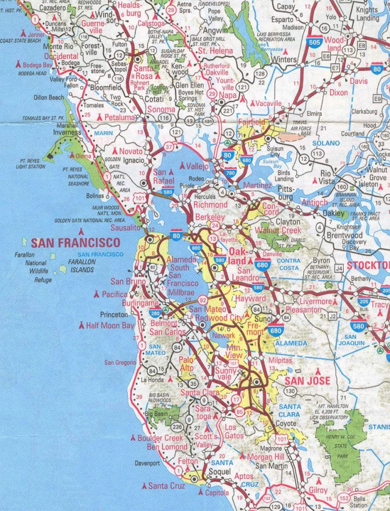 Sanfrancisco Bay Area And California Maps | English 4 Me 2 - Map Of San Francisco Area California