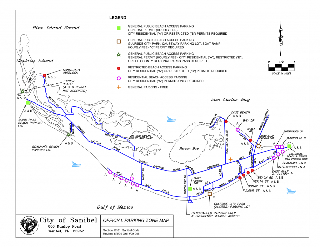 Sanibel Captiva Beach Parking Map   Restrooms   Beach Access   I - Road Map Of Sanibel Island Florida