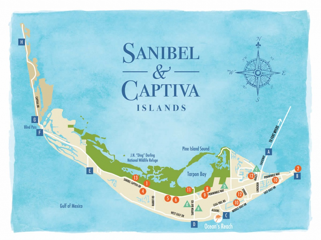 Sanibel Island Beaches And A Beach Map To Guide You - Road Map Of Sanibel Island Florida