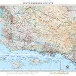 Santa Barbara County Wall Map — Benchmark Maps   Benchmark Maps California