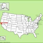 Santa Cruz Location On The U.s. Map   Where Is Santa Cruz California On The Map