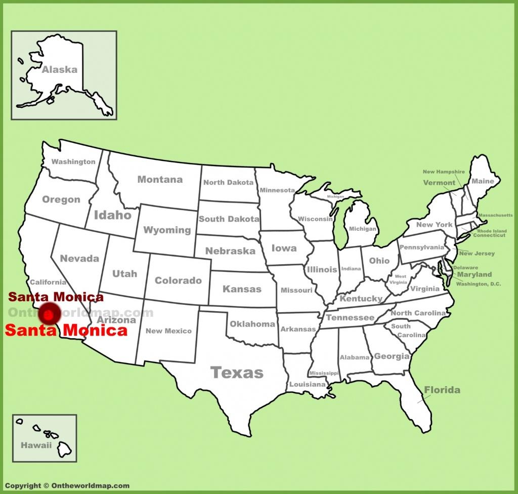 Santa Monica Maps | California, U.s. | Maps Of Santa Monica - Where Is Santa Monica California On A Map