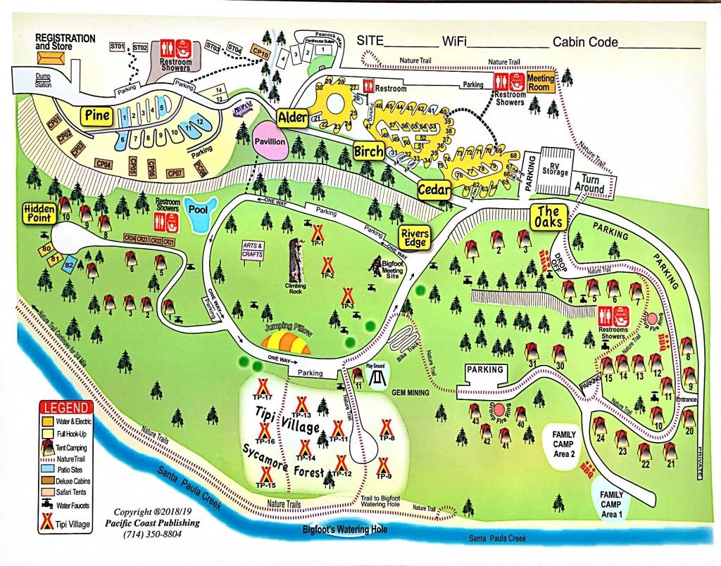 Santa Paula, California Campground | Ventura Ranch Koa - California Camping Map