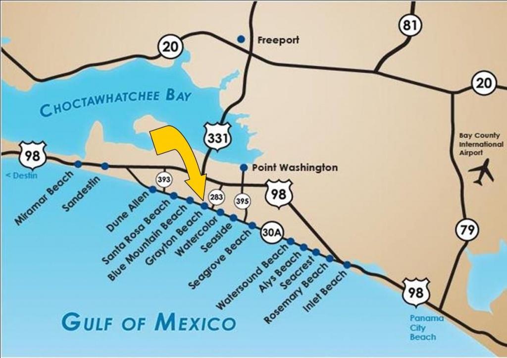 Santa Rosa Beach Florida |  Santa Rosa Beach Fl 32459 Gulf - Grayton Beach Florida Map