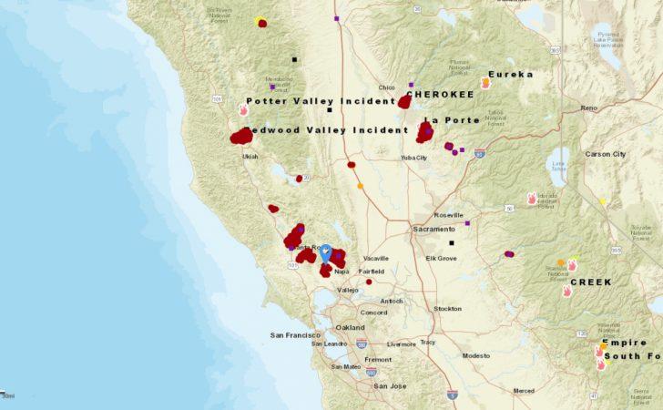 California Fire Map 2017