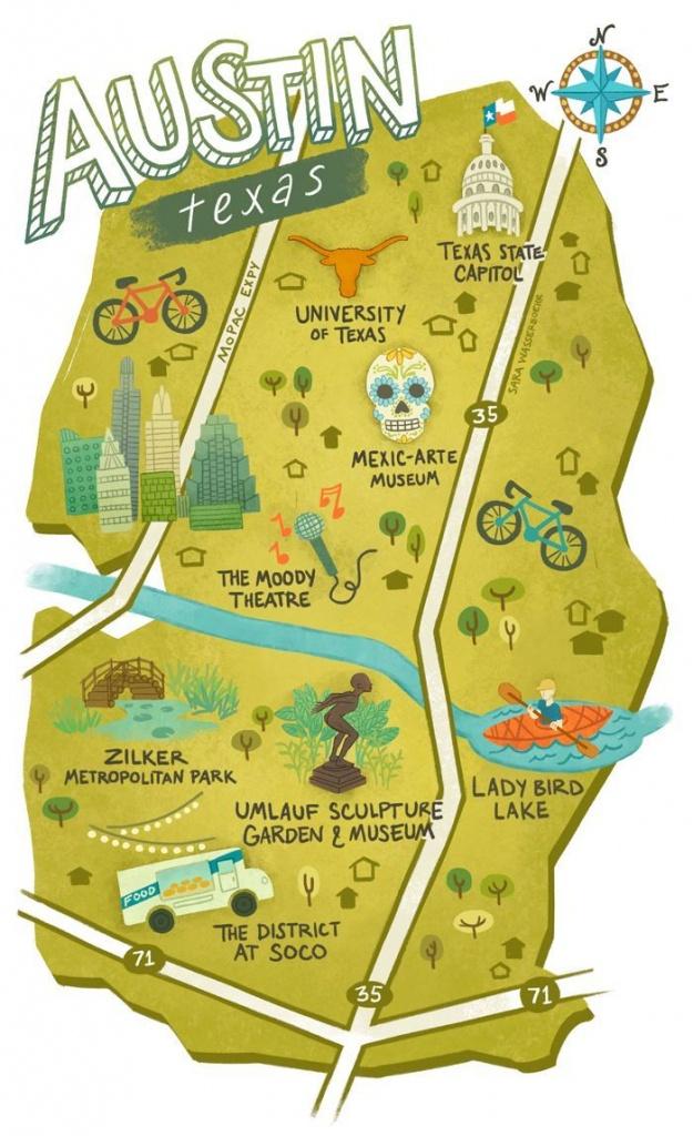 Sara Wasserboehr - Map Of Austin Texas | Wanna Go, Gotta Go! In 2019 - Travel Texas Map