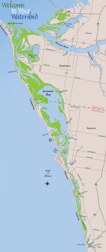 Sarasota Bay – Sarasota Bay Estuary Program - Casey Key Florida Map