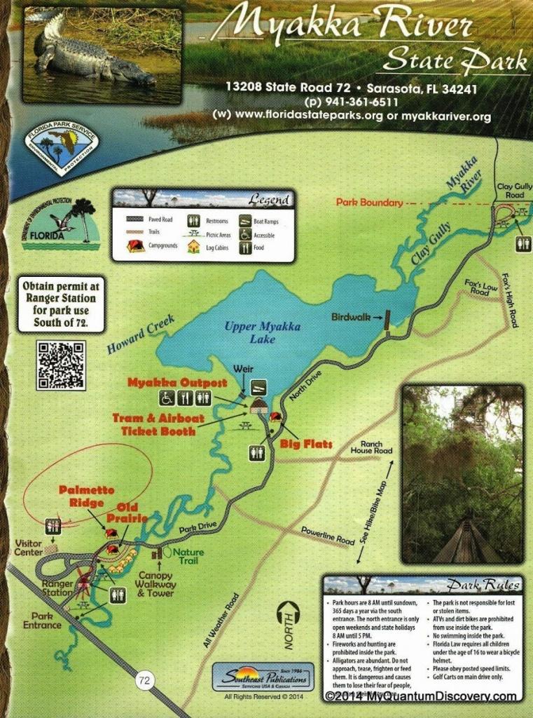 Sarasota, Fl – Myakka River State Park Review – My Quantum Discovery - Florida State Parks Camping Map