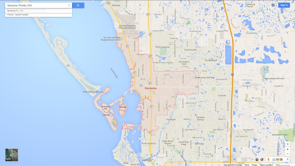 Sarasota Florida Map - Map Sarasota Florida Usa