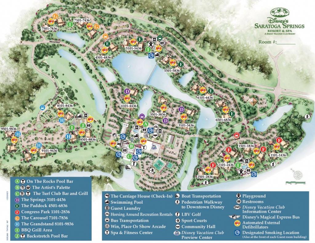 Saratoga Springs Resort Spa Map - Wdwinfo - Disney Springs Map Printable