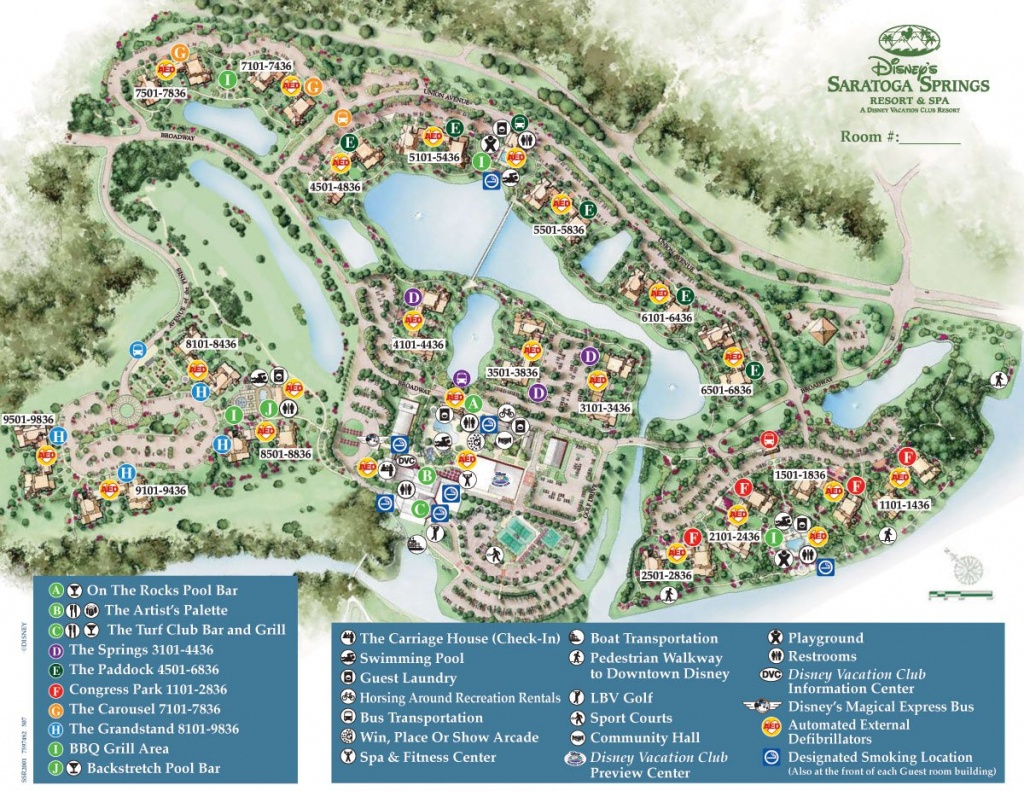 Saratoga Springs Resort Spa Map - Wdwinfo - Florida Hot Springs Map