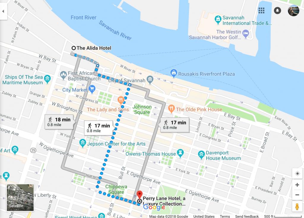 Savannah, Georgia Has Two Starwood Hotels Opening Summer 2018 - Starwood Hotels Florida Map