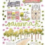 Savannah Map Print – Evelyn Henson Www.evelynhenson | Evelyn   Printable Map Of Savannah Ga