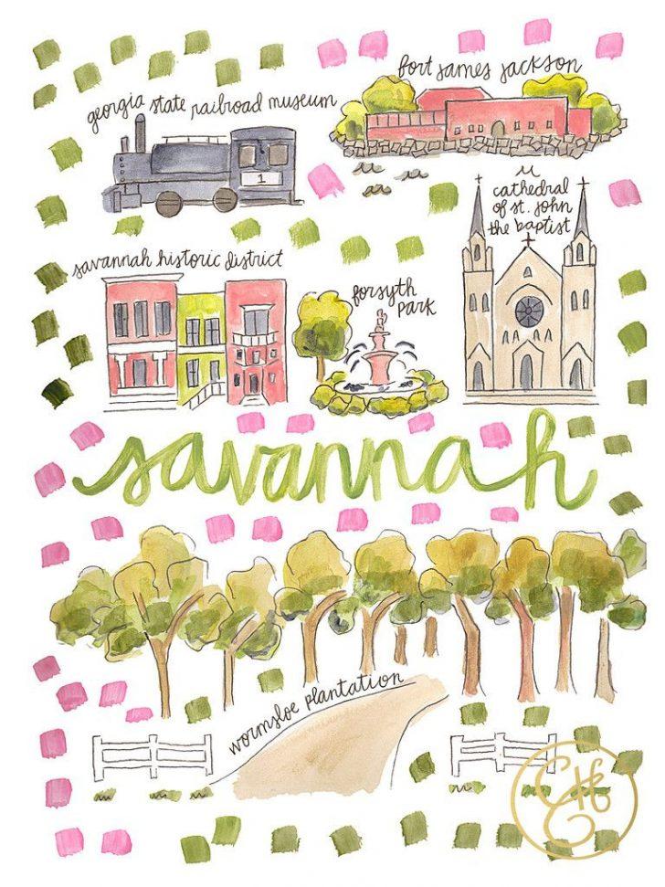 Printable Map Of Savannah Ga