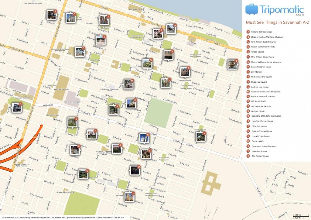 Savannah Printable Tourist Map In 2019 | Free Tourist Maps - Printable Map Of Savannah Ga