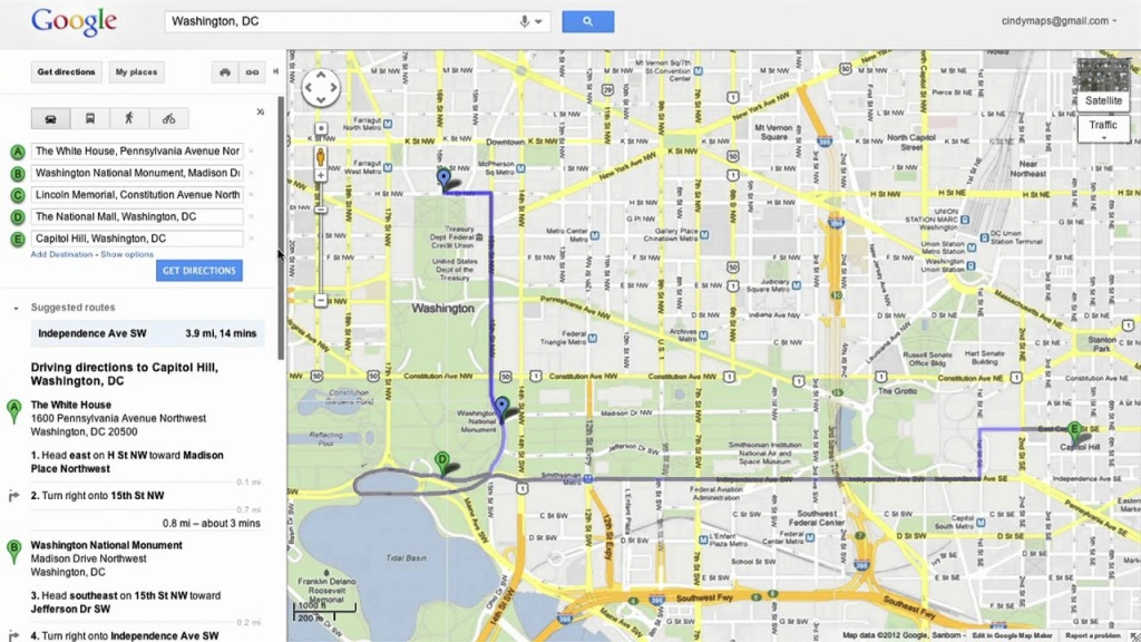 Saving Directions In Google Maps - Free Printable Maps Driving Directions