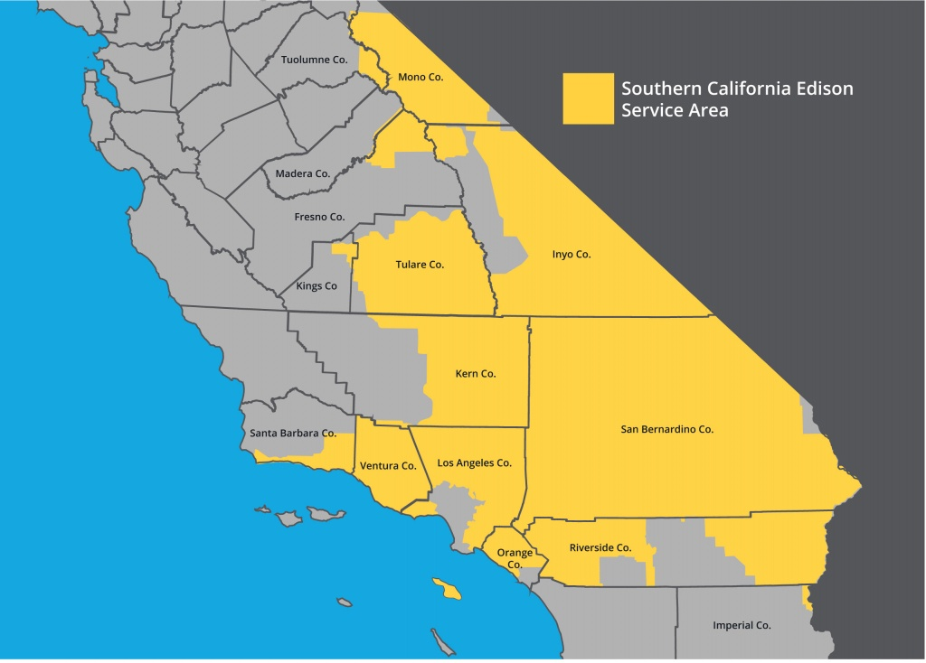 Sce Territory Map | Leadership | Who We Are | About Us | Home - Sce - California Electric Utility Map