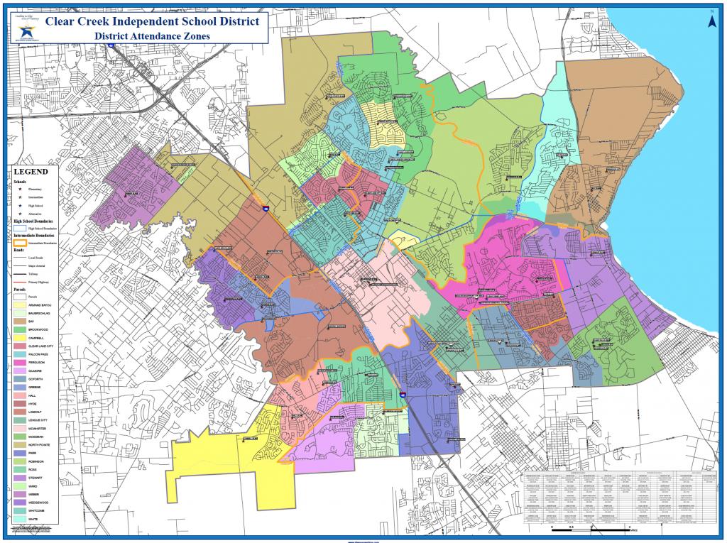 School Attendance Zones - Clear Creek - Texas School District Map By Region