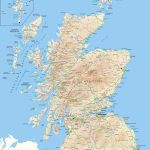 Scotland Offline Map, Including Scottish Highlands, Galloway, Isle - Printable Map Of Scotland