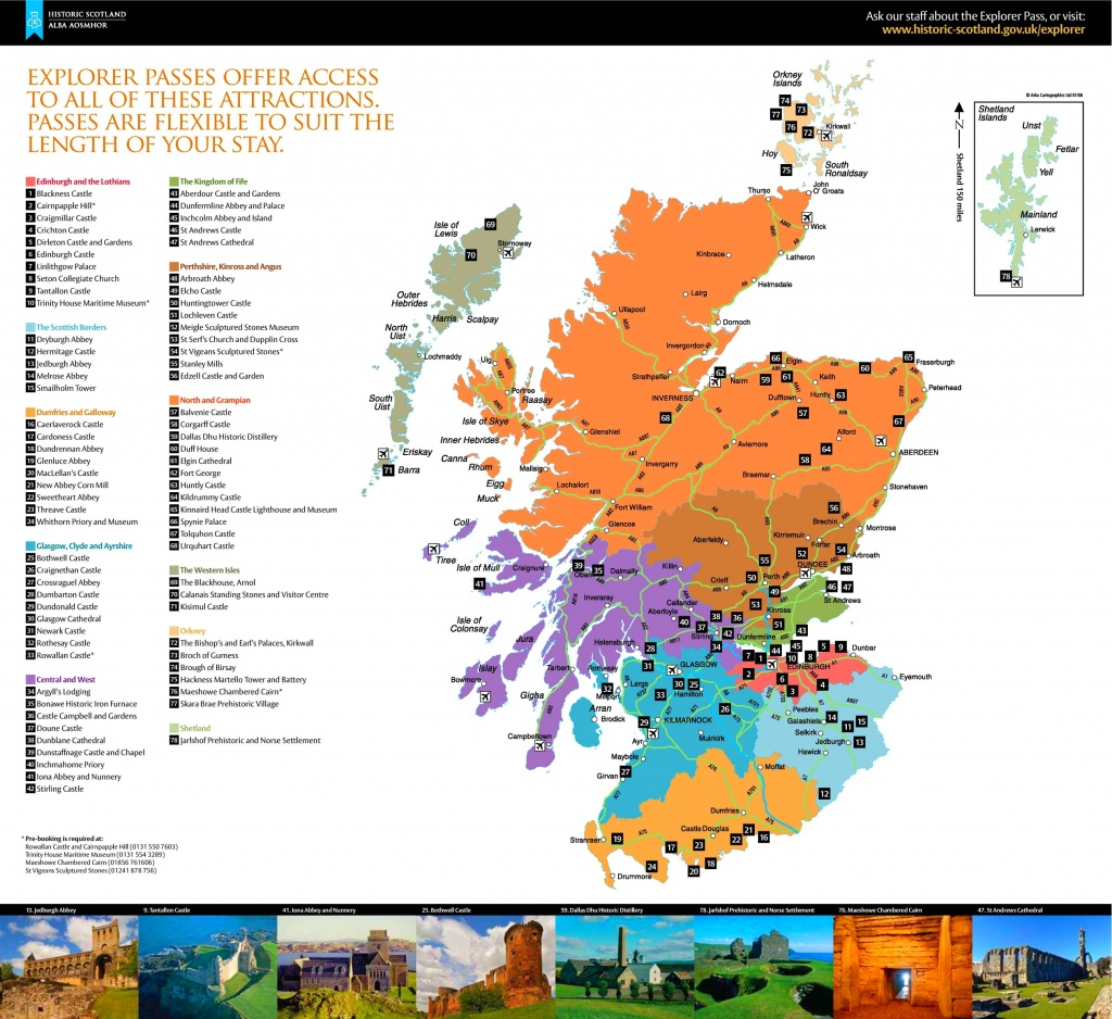 Scotland Tourist Attractions Map - Printable Map Of Scotland With Cities