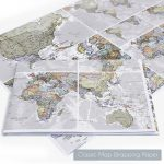 Scratch The World® Black Map Print With Coinmaps International   Printable Map Paper